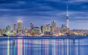 Картинка город, панорама, New Zealand, Auckland