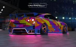Картинка Авто, Машина, Nissan, GT-R, Car, R35, Roben Evans Design