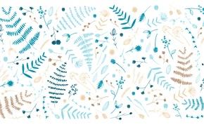 Обои листики, Nathalie Ouederni, веточки, Designed by
