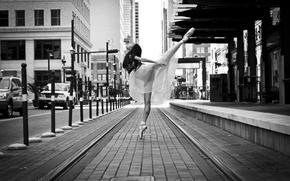 Картинка девушка, улица, танец, балерина