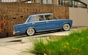 Картинка фон, автомобиль, классика, Лада, vaz, LADA, low classic, ресто, ваз 2103