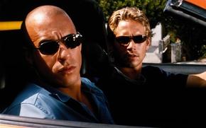 Обои очки, Вин Дизель, Пол Уокер, Форсаж, Fast and the Furious