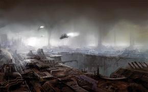 Обои 153, рисунок, будущее, корабли