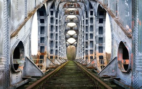 Картинка дорога, мост, фон