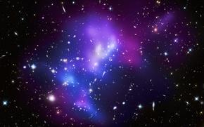 Обои звезды, синий, Галактика