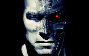 Обои t-800, Terminator, Арнольд Шварценеггер, Arnold Schwarzenegger, терминатор, робот