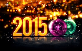 Картинка Новый Год, balls, New Year, Happy, 2015