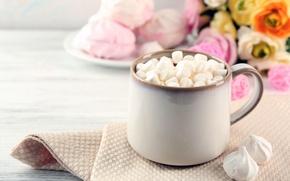 Картинка шоколад, hot, cup, chocolate, какао, cocoa, зефир, marshmallow