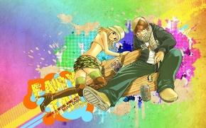 Картинка аниме, арт, девочка, парень