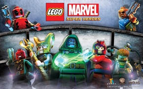 Картинка Red, Skull, Deadpool, Loki, Doc Ock, Nick Fury, Lego Marvel, Dr Doom