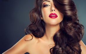 Картинка девушка, макияж, брюнетка, красивая
