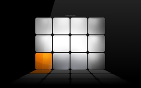 Картинка кубики, серый, оранжевый