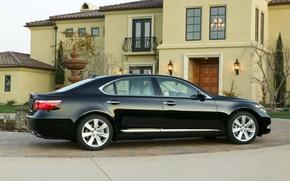 Картинка машина, авто, lexus, седан, лексус, гибрид, лонг, лс600, ls600hl, long
