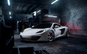Картинка McLaren, Front, MP4-12C, Tuning, Supercars, Wheels, ADV.1, ADV6 TS