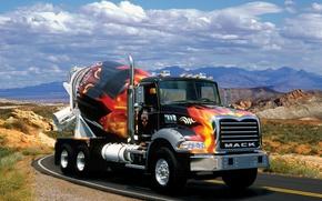 Картинка грузовик, автомобили, mack