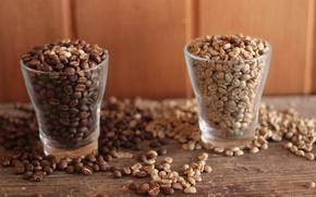 Картинка кофе, зерна, стаканы