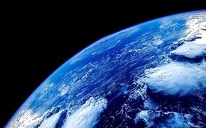 Картинка вода, космос, поверхность, синий, пространство, океан, голубой, планета, атмосфера, Земля, Space, бездна, Earth, бесконечность, вакуум