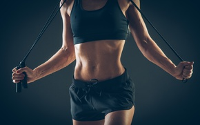 Обои fitness, sportswear, transpiration, jump rope
