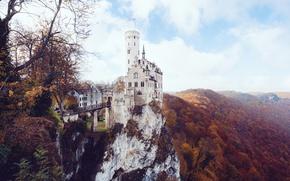 Картинка Germany, autumn, castle, Lichtenstein