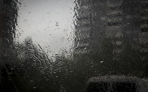 Картинка стекло, капли, улица