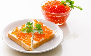 Картинка еда, хлеб, красная, бутерброд, икра, тост