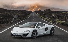 Картинка дорога, car, McLaren, wallpaper, суперкар, автомобиль, road, красивый, 570GT