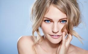 Картинка girl, model, face, portrait, Sasha Pivovarova