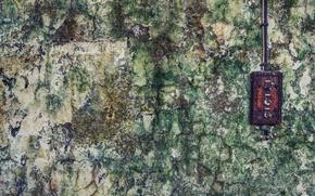 Картинка стена, ржавчина, выключатель, плесень