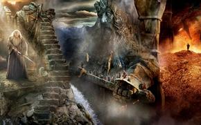 Картинка золото, гномы, сокровища, волшебник, Gandalf, Хоббит, The Hobbit, Гэндальф, wizard, Бильбо, Торин Оукеншильд, Thorin Oakenshield, …