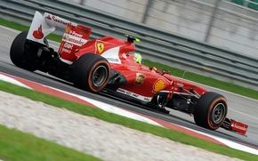 Картинка красный, спорт, Ferrari, болид, F138