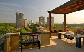 Картинка city, penthouse, interior, building, terrace