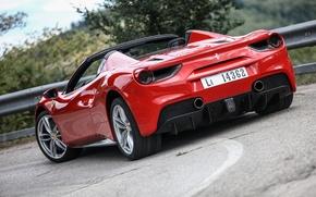 Картинка Ferrari, вид сзади, Spider, 488