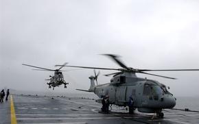 Картинка Вертолет, посадка, военный
