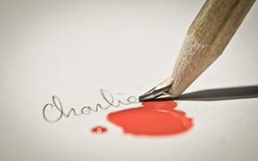 Картинка кровь, карандаш, Je Suis Charlie