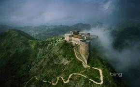 Картинка дорога, горы, замок