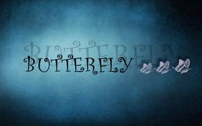 Картинка текст, бабочка, три, buttefly