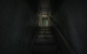 Картинка мрак, интерьер, лестница