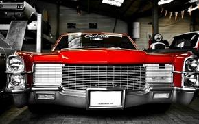 Картинка Cadillac, Red, De Ville, Classical, Retro Car