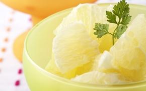 Обои петрушка, лед, ананас, десерт