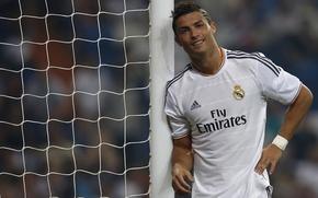 Картинка футбол, форма, Cristiano Ronaldo, футболист, football, Роналду, игрок, Реал Мадрид, Real Madrid, Ronaldo, Кристиану Роналду