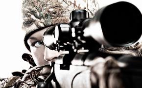 Картинка девушка, снайпер, прицел