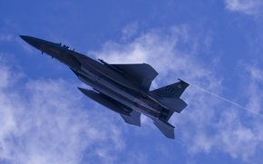 Картинка небо, самолет, ракеты