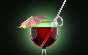 Обои рюмка, стакан, зонтик, чаша