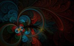 Картинка цвета, абстракция, рисунок, перья