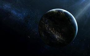 Обои звезды, свет, space, цивилизация, planet