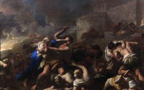 Обои Избиение Младенцев, картина, мифология, Лука Джордано
