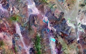 Картинка горы, фото, краски, Земля, NASA