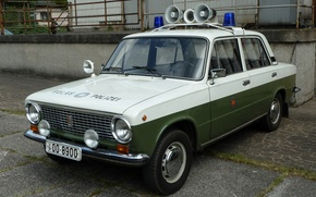Картинка Полиция, ВАЗ, ГДР, Lada 1200S, Volkspolizei