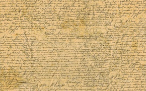 Картинка бумага, шрифт, слова, рукопись