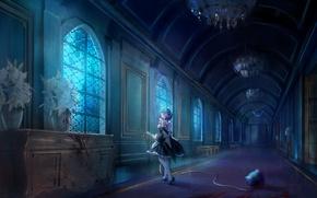 Картинка девушка, замок, демон, anime, art, Rem, Re: Zero kara Hajimeru Isekai Seikatsu